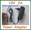 10 pcs 12 v 2a carregador de parede eua plug ue para microsoft surface rt 10.6 tablet pc adaptador de alimentação de alta qualidade