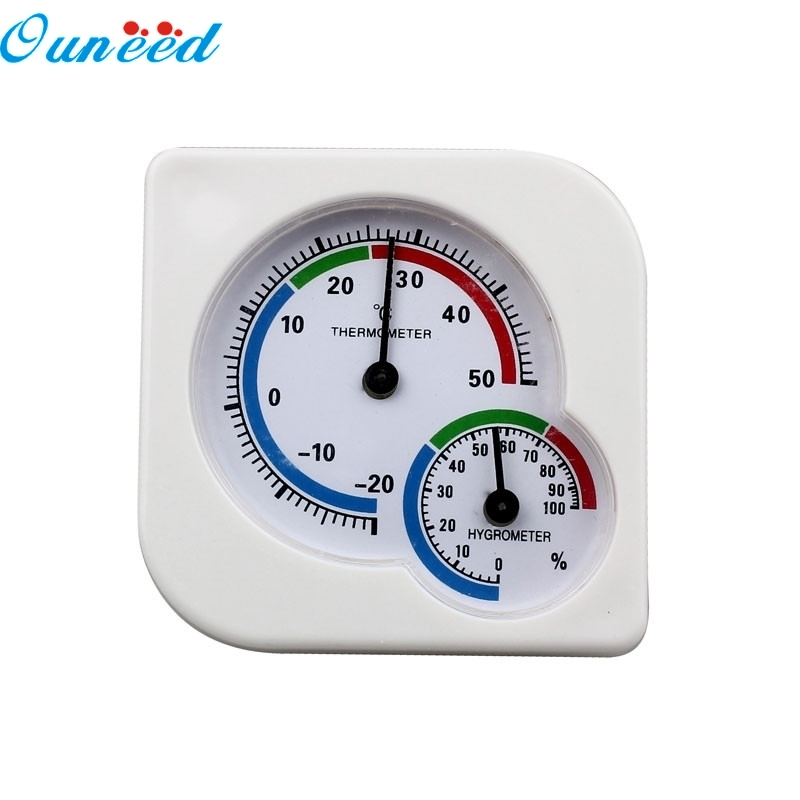 Ouneed Happy Gift Indoor Outdoor MIni Hygrometer Thermometer Temp Temperature Meter New 1PC ts001 pt100 20 300 2 temp sensor temp meter temperature thermometer for generator trimmer trailer stump grinders snowmobile