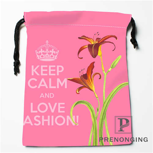 Custom Lily Drawstring Bags Printing Fashion Travel Storage Mini Pouch Swim Hiking Toy Bag Size 18x22cm #171203-6-9