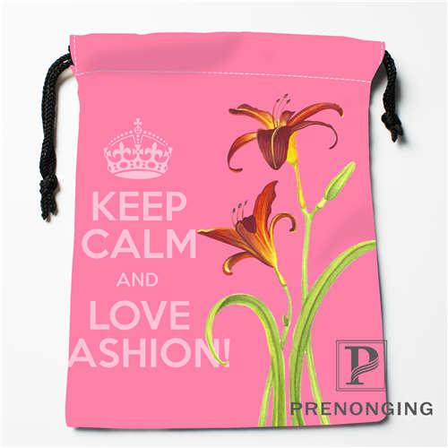 Custom Lily Drawstring Bags Printing Fashion Travel Storage Mini Pouch Swim Hiking Toy Bag Size 18x22cm #171203-6-9