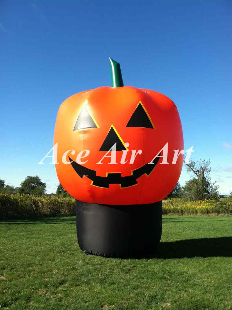 16ft giant halloween inflatable lantern decoration air blown inflatable pumpkin with base for advertisingchina