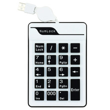JONSNOW Mini USB 19 Keys Silicone Air Touch Numerical Keypad for Digital Keyboard Ultra Slim Number Pad Computer PC Laptop