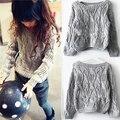 2013-нова 2015 осень зима вязаные свитера девочек детская одежда свободного покроя девочка пуловер костюм 2 ~ 7 лет infantil свитер