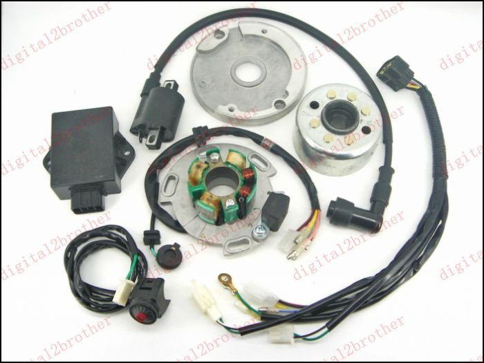 H2CNC Performance Racing Magneto Stator Rotor Kit Dirt Bike LIFAN 125cc 138cc 140cc 150cc Metal & Plastic Motorcycle Ignition датчик lifan auto lifan 2