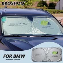 BROSHOO Ventana Frontal Parasol Sombrilla Del Parabrisas Del Coche Del Parabrisas Del Visera Cubierta Para BMW X3 X1 X5 X6 F14 F16 E30 E46 E90 E60 F30