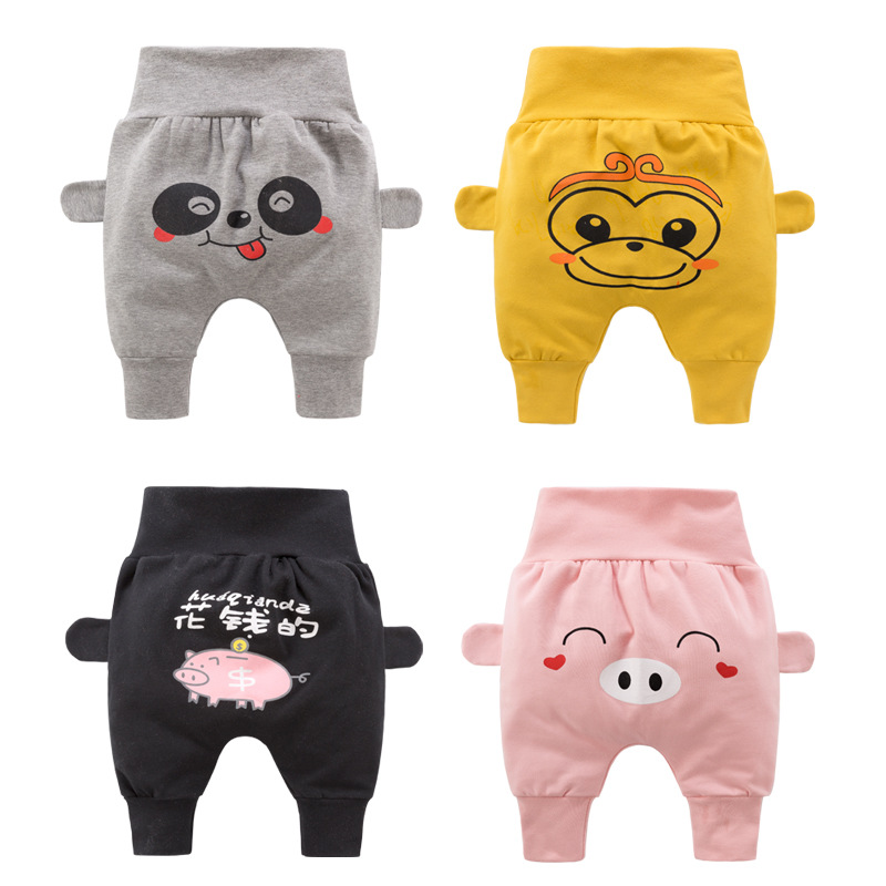 Children Trousers Spring/Autumn Baby Boys PP Trousers Girls Casual Trousers Baby's High-waisted Belly-guard Trousers Kids Pants