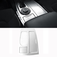 Left Drive Only ABS Black Silver Car Gear Box Panel Cover Trim For Nissan Armada Patrol