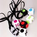 Wholesale 11PCS/Lot 2.2cm Mini Fidget Cube Puzzles Magic Cubes With Rope Gift Relieves Stress Reliever Desk Spin Squeeze Toys