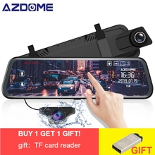 AZDOME PG02 Car Dvr camera 10 Full HD 1080P rear view mirror Stream Media Full-Screen Touch dashcam Video Recorder