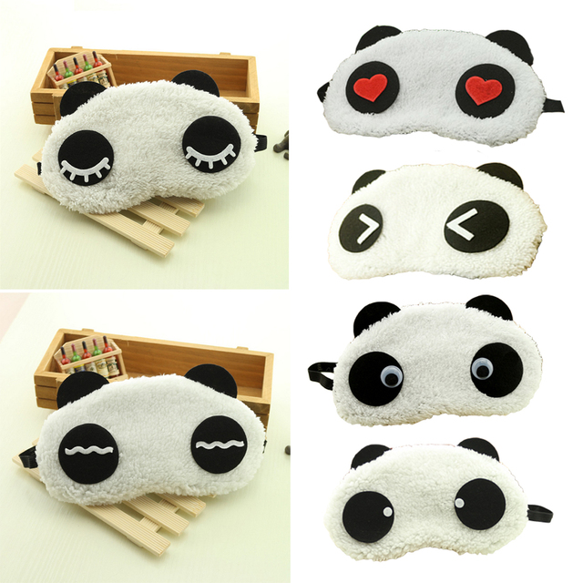 Hot Comfortable Korean Style Soft lovely Cartoon Pure Cotton sleep Eye Shade Cute Animal shading Ice Portable Hot Panda Eye Mask 1