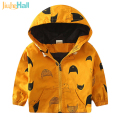 18M-6T Fashion Spring Autumn Boys Hooded Jackets Cartoon Monster & Penguin Print Outwear Good Quality Blouson Garcon CMB349