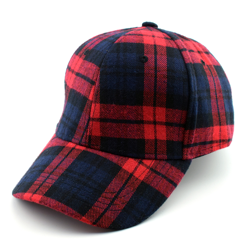Fashion Top Quality Scotland Plaid Cotton Snapback Baseball Cap Sun Hats For Women Men Superstar Street Hats Adjustable men cotton octagonal cap outdoor casual plaid newsboy beret painter cap