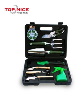 Top-ince 9in1 Garden Tool Set with Pruning Knives Water Can Shovel Mental and Plastic High Quality Box Package thermo operated water valves can be used in food processing equipments biomass boilers and hydraulic systems