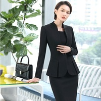 High Quality Fabric 2018 Fashion Styles Uniform Designs Blazers Suits With Jackets And Dress Women Business Work Wear Suits