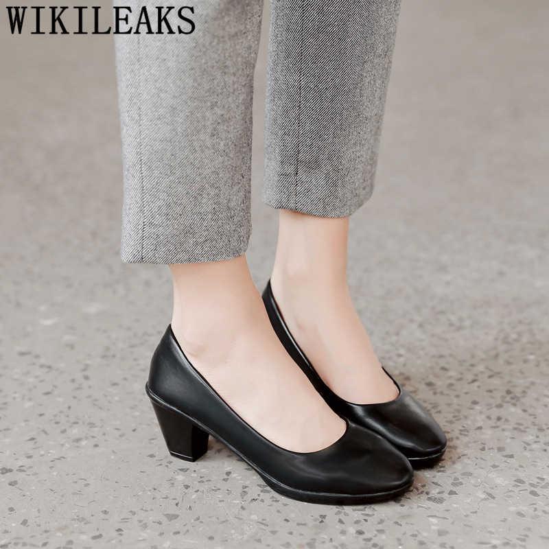 Ufficio scarpe da donna fetish di alta talloni delle pompe delle donne scarpe nero degli alti talloni delle donne pattini di vestito delle signore degli alti talloni chaussures femme