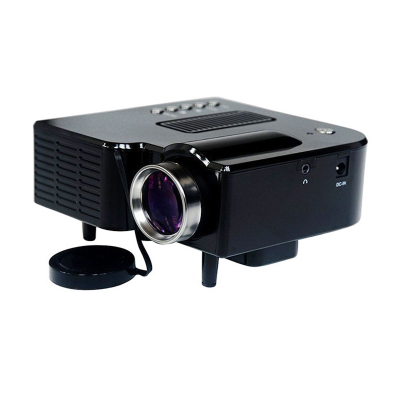 ФОТО Wholesale New Home Projector Mobile phone MINI Projector Mini Pico portable Digital Projector AV A/V USB & SD HDMI Projector