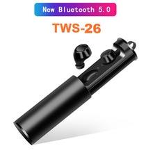 Yulubu TWS26 Bluetooth 5,0 стерео спортивные наушники с микрофоном беспроводные наушники-вкладыши 300 мА/ч коробка Наушники для IOS Android PK X2T