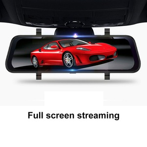 Image 1 - 10 Inch Touch Bildschirm Fahren Recorder DVR Rück Kamera Volle HD Auto Kamera 1080P Hinten Kamera Dual Lens Video recorder