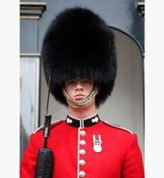 Yetişkinler siyah İngiliz asker şapka İngiliz guard kap kraliyet asker kap kürk kış kürk şapka ile İngilizce asker şapka