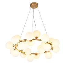 Modern Iron Glass Multi Heads Chandelier Lights For Living Room Dining Room G4 Lights Gold Glass Chandelier Lamp Fixtures 2 3 heads modern gold body milky glass dining room wall lamp magic beans cafe balcony lights dna glass light free shipping