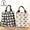Nueva moda ocio bolsas de poliéster bolsas de almuerzo aislante termico nevera bolsas lonchera termica portatil párr almuerzo bolsas de comida
