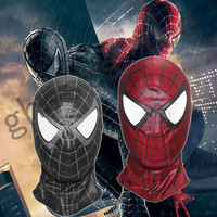 Spider Man Black Red Mask Hood Venom Cosplay Full Face Masks Spider Man 3