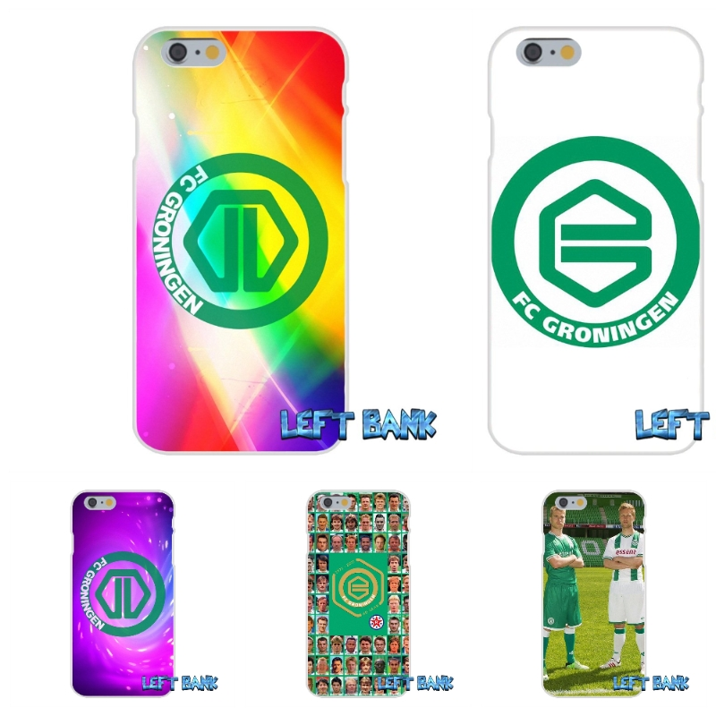 Groningen fc Soccer Soft Silicone TPU Transparent Cover Case For iPhone 4 4S 5 5S 5C SE 6 6S 7 Plus