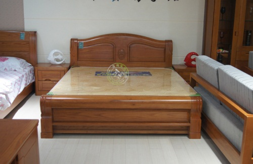 Roble chino chino de madera maciza cama doble secci n Camas con dosel de madera
