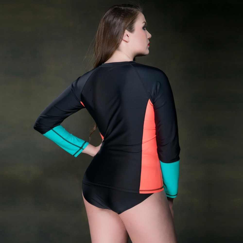 2020 sıcak satış Rashguard kadın Daissioni dalış T Shirt döküntü bekçi kadınlar uzun kollu sörf mayolar sörf Wetsuit üst giyim