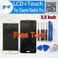 For Xiaomi Redmi Pro Lcd Display +Touch Screen + Tool High Quality 100% New Digitizer Screen Panel For Xiaomi Redmi Pro 5.5inch