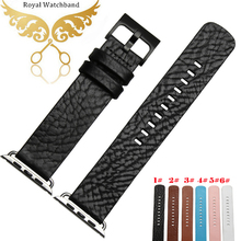 38mm 42mm Black Genuine Leather Strap Classic Buckle Adapter Watch Bands for A p p l