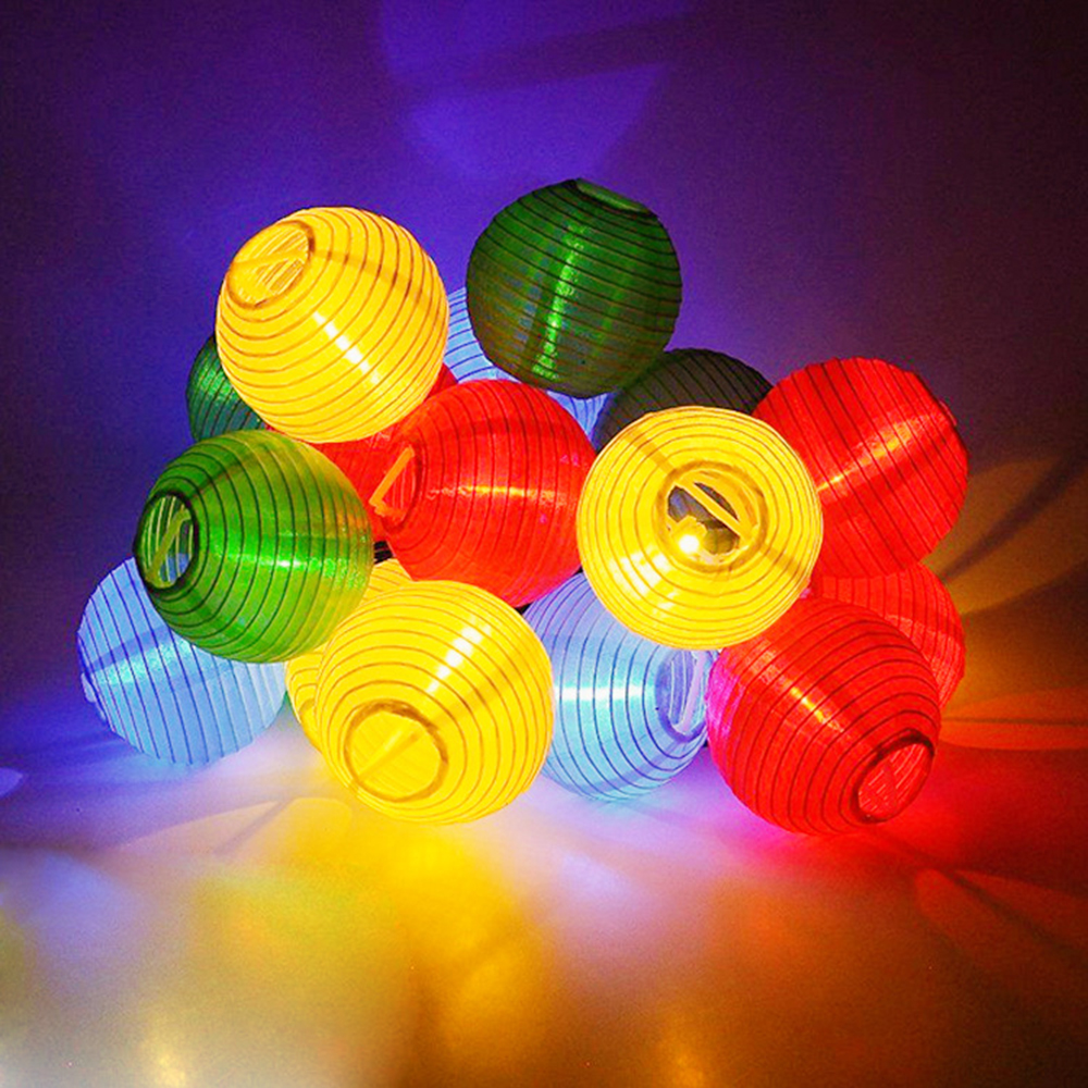 Tanbaby 6M Solar power led string lights 30 led lantern global ball string rope outdoor decoration