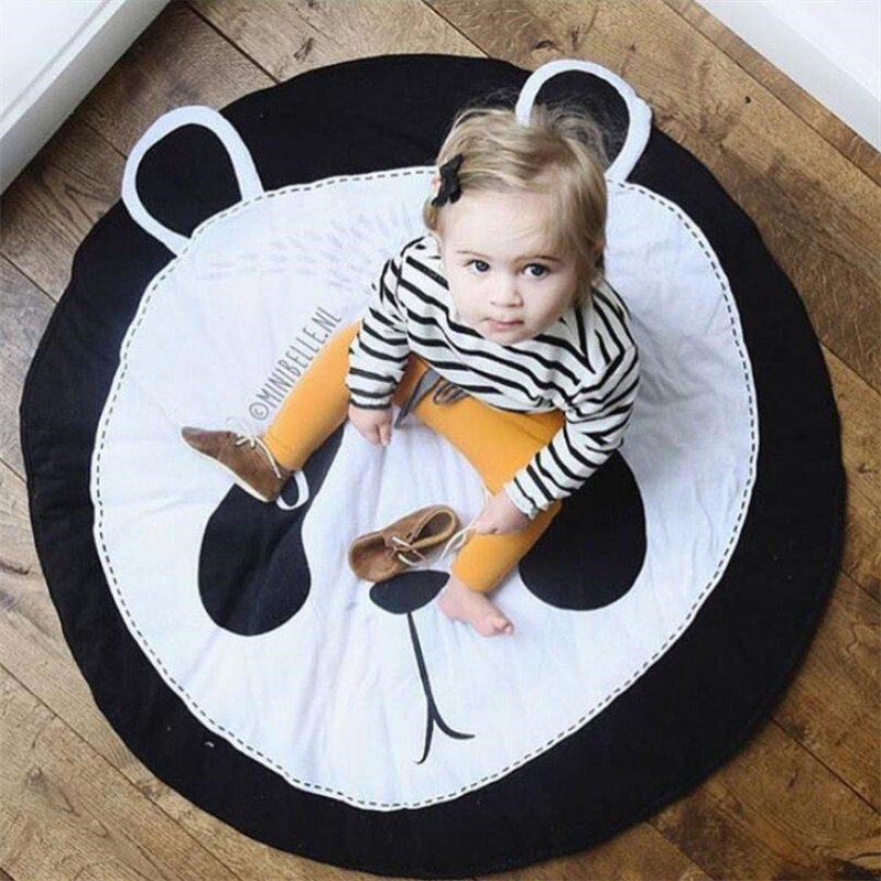 HTB14v09qkyWBuNjy0Fpq6yssXXaO Baby play Mats Animal climbing carpet infant Crawling Blanket Round Carpet Rug Toys Mat For Children Room Decor Photo Props
