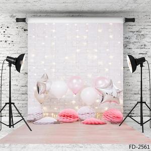 Image 3 - Balony ściana z cegły fotograficzne tła tkanina winylowa zdjęcie strzelaniny tło dla dziecka urodziny dzieci zdjęcie z imprezy Studio
