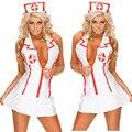 Novos trajes sexy enfermeira uniforme Lingerie Sexy hot v profundo neck vestido de abertura de cama colarinho trajes sexy lingerie erótica lingerie sexy
