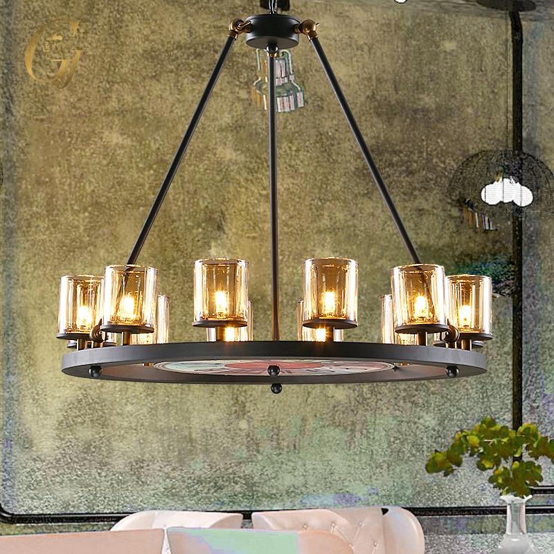 Loft Vintage Iron Round Circle Pendant Lights Industrial