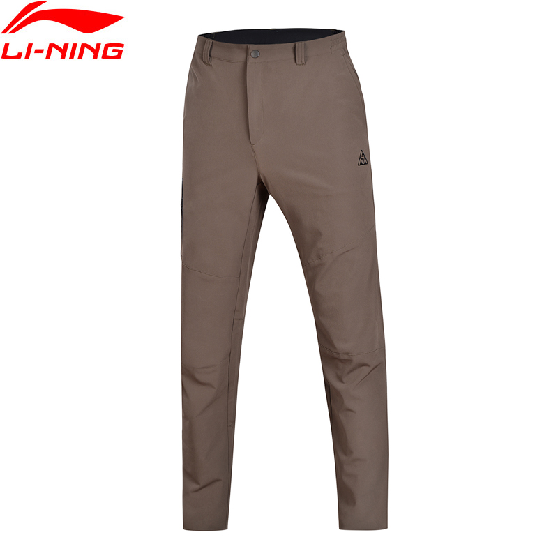 Li-Ning 2018 Men Outdoor Sports Pants Quick Dry Regular Fit 88% Polyester 12% Spandex Li Ning Sport Pants Trousers AEKN001 inbike outdoor cycling polyester spandex jacket pants for men white black
