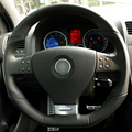 Black Leather Hand-stitched Car Steering Wheel Cover for Volkswagen Golf 5 Mk5 GTI VW Golf 5 R32