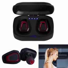 A7 TWS Wireless Bluetooth Headset Stereo Handfree Sports Bluetooth Earphone With Charging Box For iphone Android PK X2T i7/i7s(China)