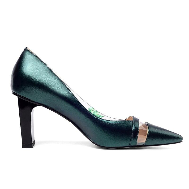 Soirée Pvc Cuir champagne Talons Femmes De Bleu Bout Chaussures Hauts D'été Imprimer Isnom Transparent Peu Profonde À Femme En Pompes Pointu 2ID9EH