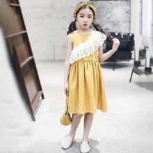 380fdfbd66 QQ523 prosta dziewczyna sukienki wygodne dla dzieci sukienka wiek 4-14Y  duże dziewczyny odzież lato