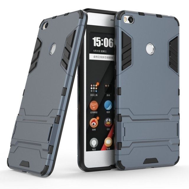 in stock db7a8 e4f2b US $2.92 25% OFF for Xiaomi Mi Mix 2 Mix2 Shockproof Stand Hard case for  Xiaomi Mi Max 2 Max2 4GB 64GB 128GB Combo Armor case Back cover> -in Fitted  ...