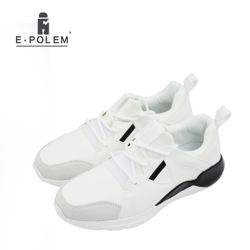 Men Outdoor Walking Shoes Lace Up Breathable Comfortable Training Sneakers Footwear White Black Mens Fashion Casual Shoes 2017