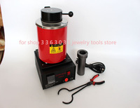 1kg Digital Automatic Melting Furnace for Melt Scrap Silver Gold Copper Jewelry +Graphite Crucible +Tong