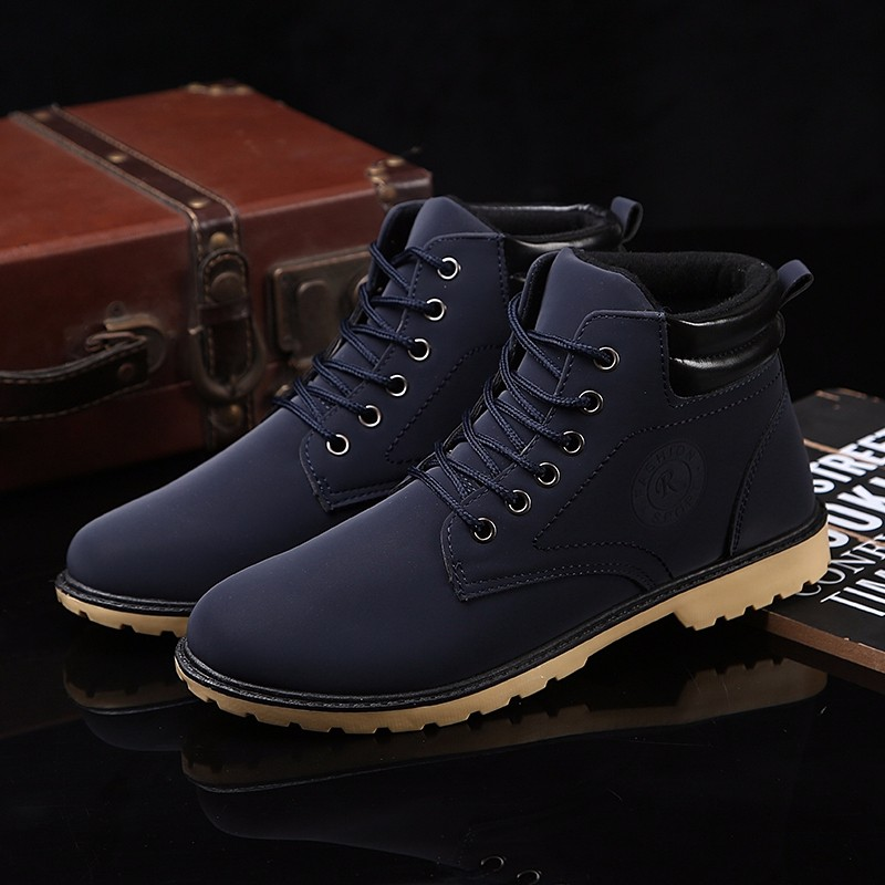 YWEEN Men Leather Boots Autumn Winter High Style Waterproof Fashion Outdoor Work Shoes Casual Martin Boot For Man Hot Sale 19