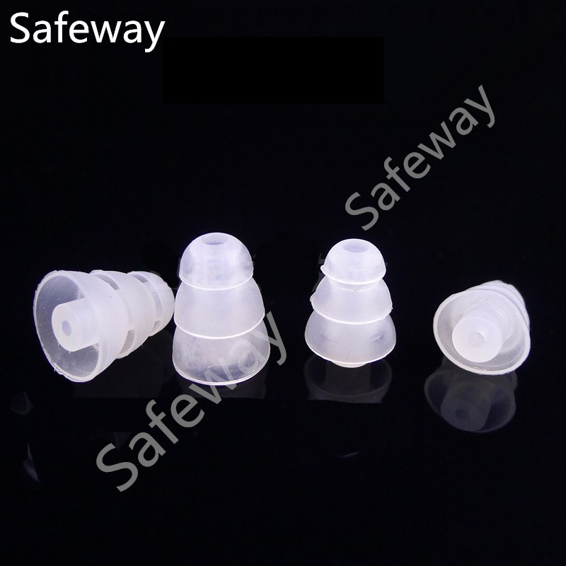 1000PCS Replacement Clear Color Three Layer Earbuds Eartips 2.0mm Inner Diameter For Motorola Two Way Radio Earpiece