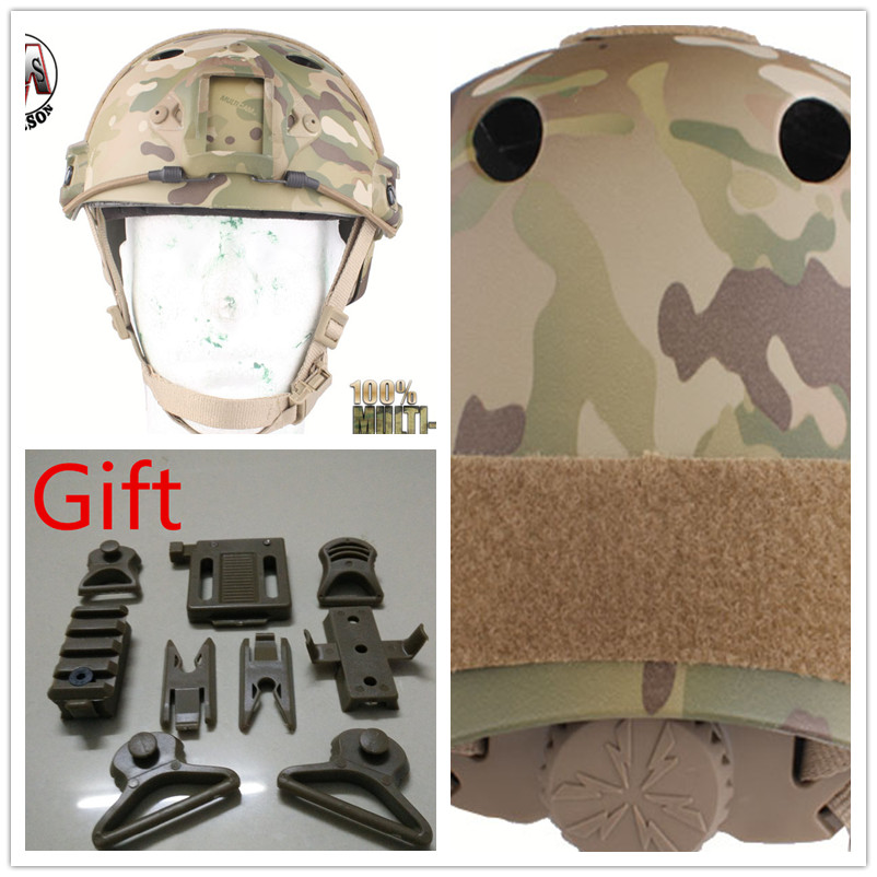 Protective helmet Pararescue Jump EMERSON FAST Helmet PJ TYPE Multicam EM5668D emerson airsoft tactical fast protective helmet pararescue jump pj type kryptek mandrake em5668i