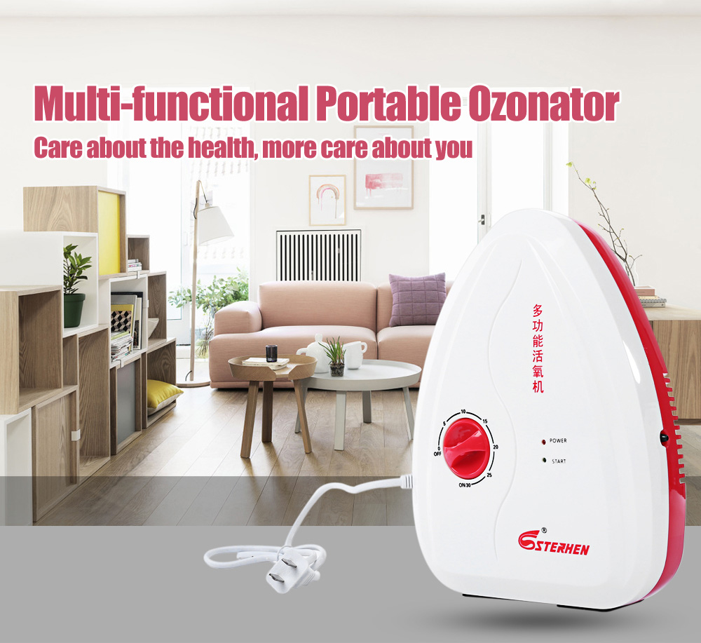 STERHEN Portable Multifunctional Air Purifier Ozone Generator Sterilizer Ozonator For Fruit Vegetables Purification Ionizator best price mini ozone generator 200 300mg hr fm 300 water treatment and air purifier ozonator ozone machine