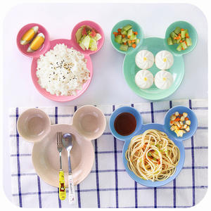 CiDKi Kitchen Mickey Tableware Plates Fruit Snack Rice Bowl