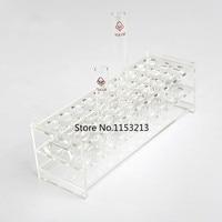 18.5mm * 30 Holes rectangle transparent Plexiglass test tube holder organic glass test tube rack cocktail holder free shipping